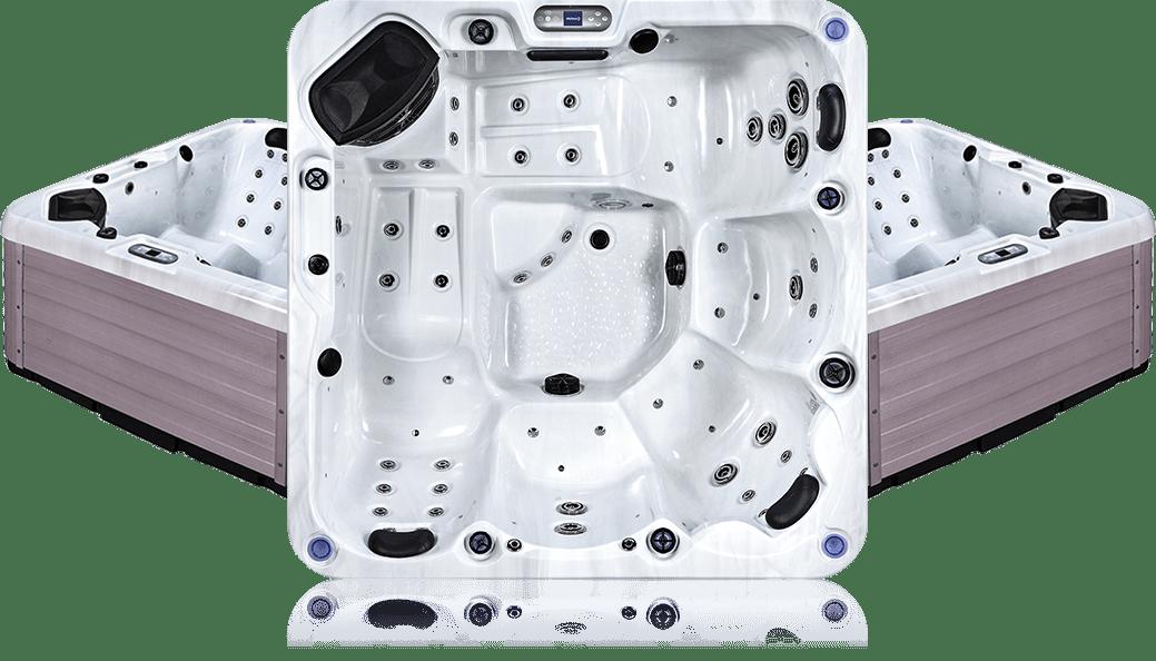 OS boto - White Marble - Spa 5 places