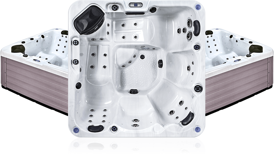 OS mako - White Marble - Spa 5 places